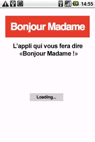 screenshot bonjour madame Bonjour Madame