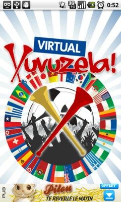 screenshot virtual vuvuzela 2 VuvuParty, Virtual Vuvuzela & Vuvuzela Nightmare
