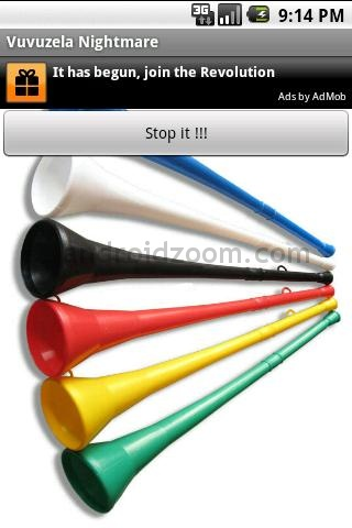 screenshot vuvuzela nightmare VuvuParty, Virtual Vuvuzela & Vuvuzela Nightmare